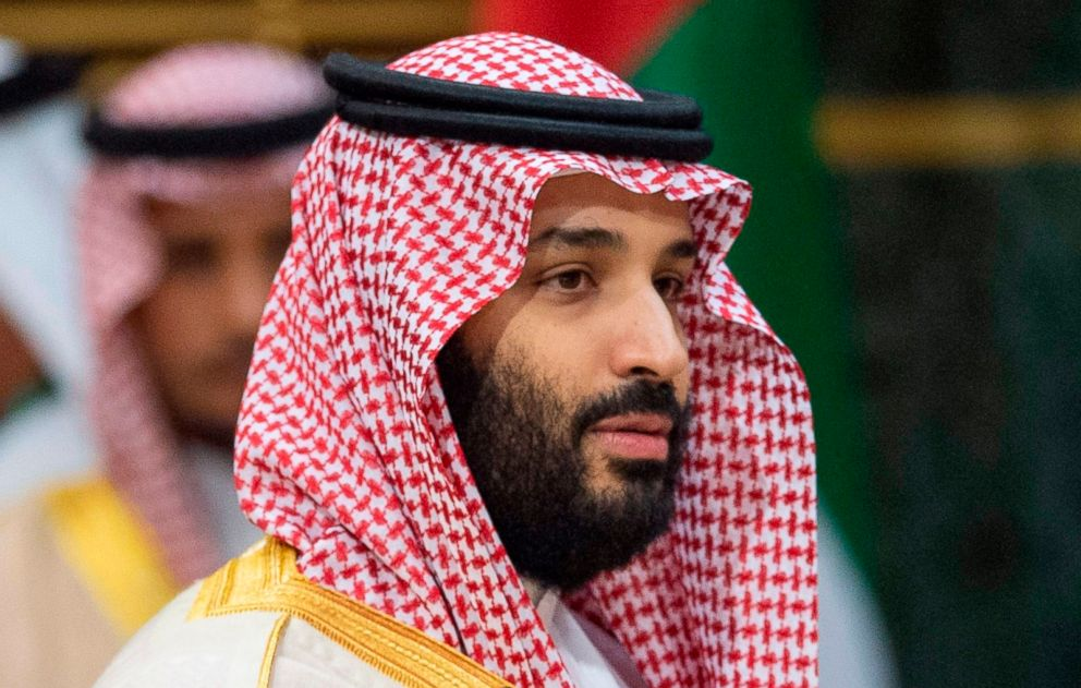 Saudi Crown Prince Mohammed bin Salman during a meeting at the Diriya Palace in the Saudi capital Riyadh during the Gulf Cooperation Council (GCC) summit, Dec. 9, 2018.