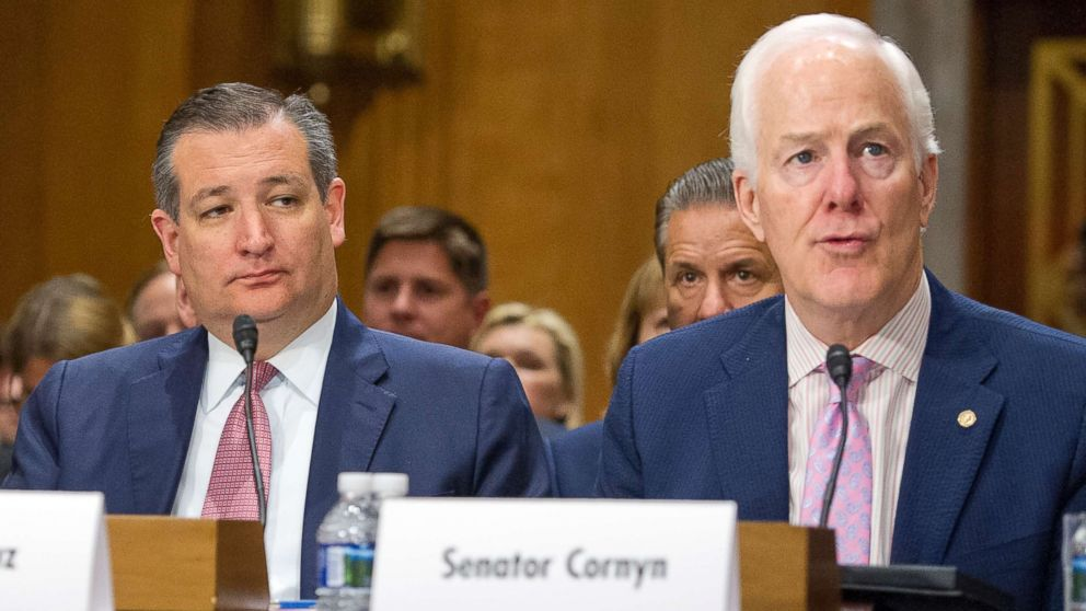 Image result for PHOTOS OF SENATORS John Cornyn AND TED CRUZ