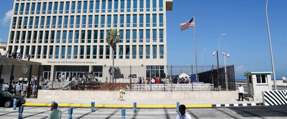 PHOTO: In this Aug. 14, 2015, file photo, a U.S. flag flies at the U.S. embassy in Havana, Cuba.