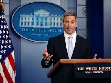 PHOTO: Acting Director of United States Citizenship and Immigration Services Ken Cuccinelli, speaks during a briefing at the White House, Aug. 12, 2019, in Washington.