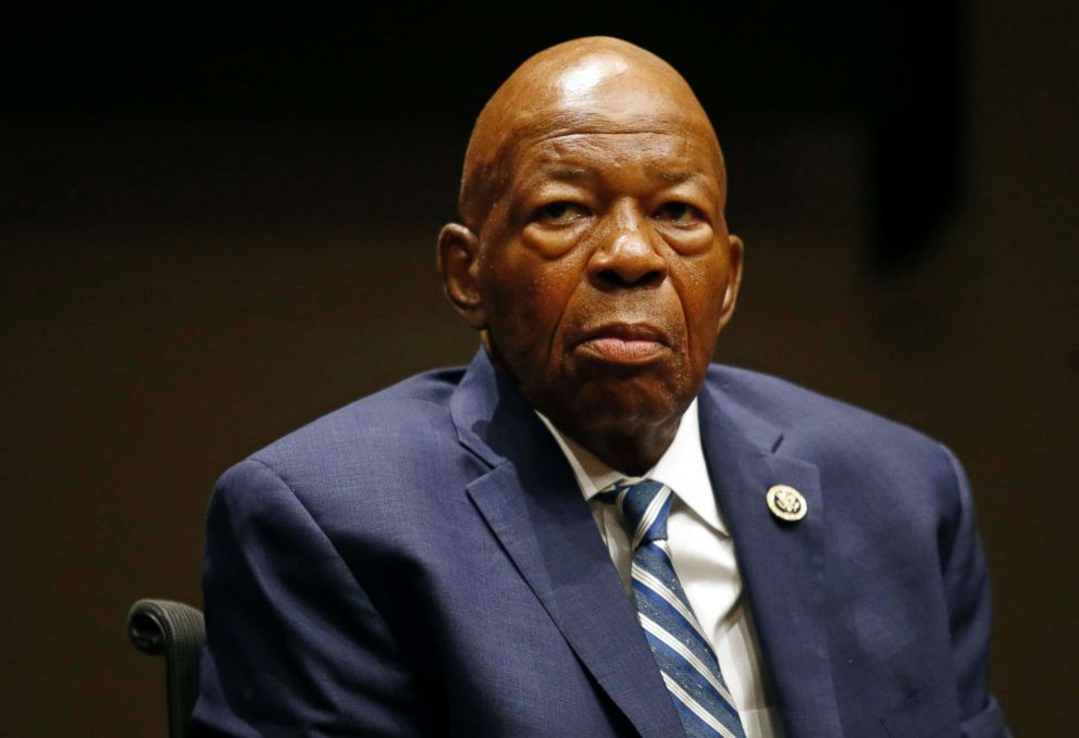 PHOTO: Elijah Cummings participates in a panel discussion during a summit on the countrys opioid epidemic at the Johns Hopkins Bloomberg School of Public Health in Baltimore, Oct. 2017.