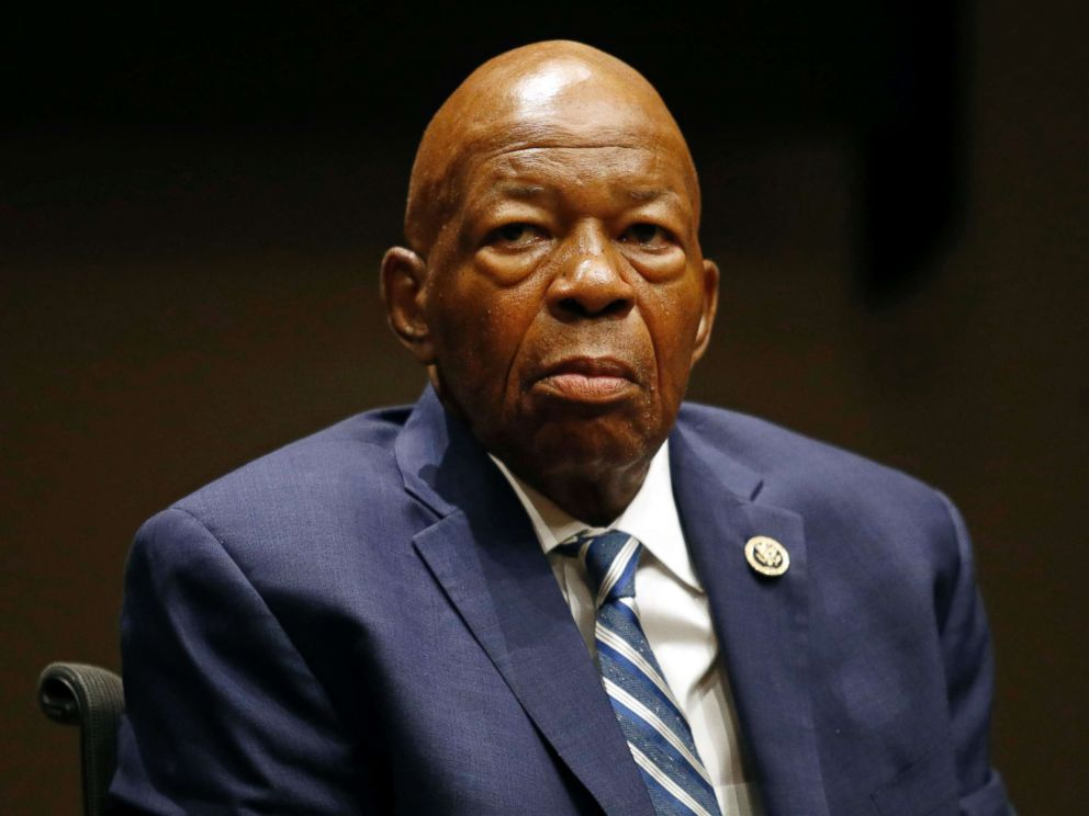 PHOTO: Rep. Elijah Cummings, participates in a panel discussion during a summit on the countrys opioid epidemic at the Johns Hopkins Bloomberg School of Public Health in Baltimore, Oct. 2017.