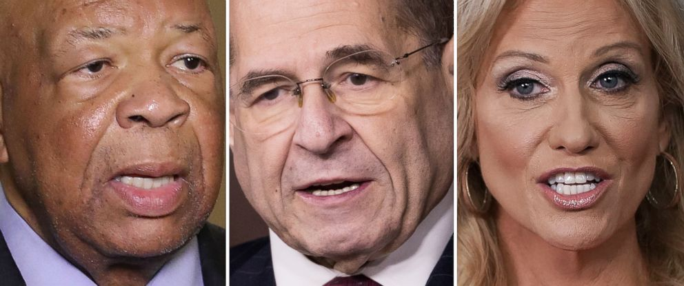 PHOTO: Rep. Elijah Cummings, Rep. Jerry Nadler and Counselor to the President, Kellyanne Conway.
