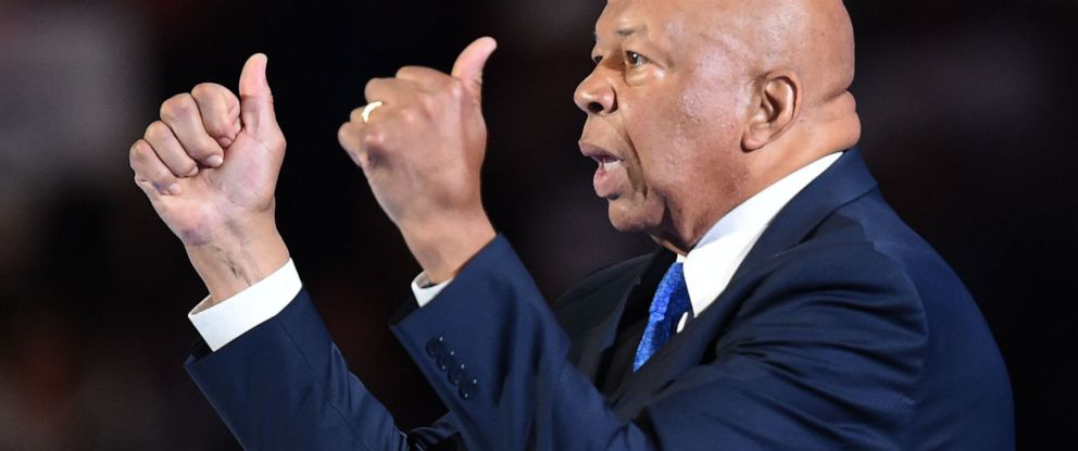 PHOTO: (FILES) In this file photo taken on July 25, 2016 US Representative Elijah Cummings gestures during Day 1 of the Democratic National Convention at the Wells Fargo Center in Philadelphia, Pennsylvania.