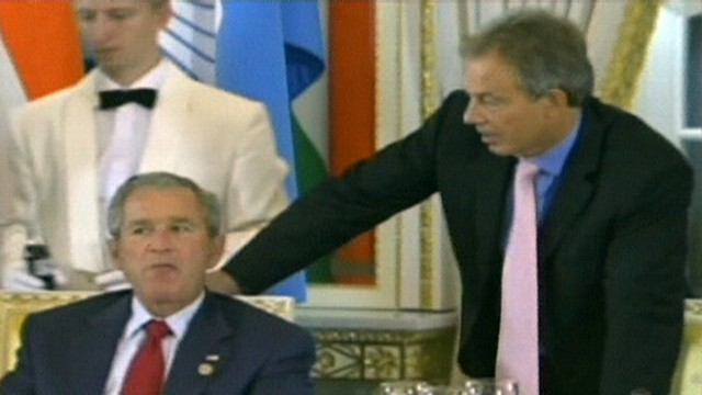 VIDEO: President Bush uses an expletive while talking to Tony Blair at G-8 Summit.