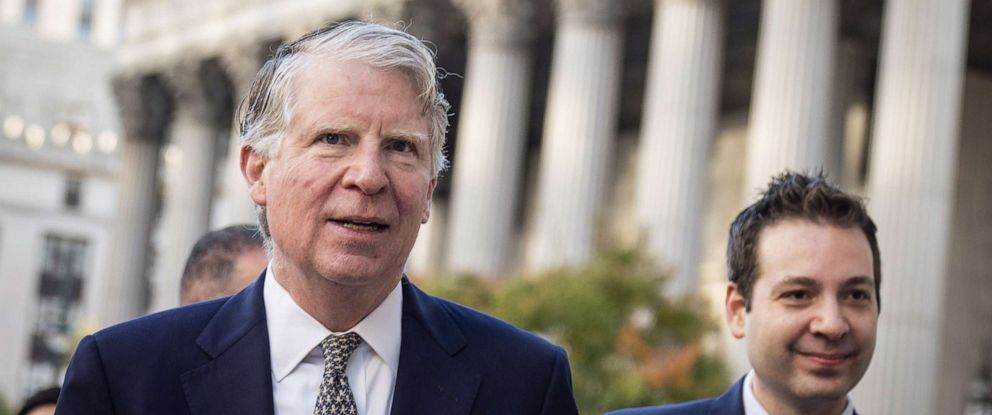 PHOTO: Manhattan District Attorney Cy Vance arrives at federal court for a hearing related to President Donald Trumps financial records, Oct. 23, 2019, in New York City.