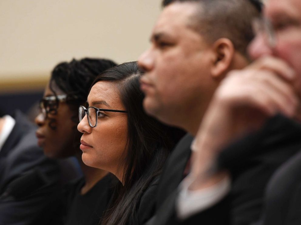PHOTO: DACA recipient Yazmin Irazoqui Ruiz waits to testify at a House Judiciary Committee hearing on protections for Temporary Protected Status (TPS) recipients and DREAMers, on March 6, 2019, on Capitol Hill in Washington.