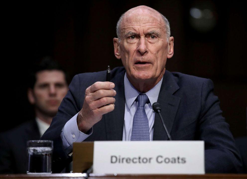 PHOTO: Director of National Intelligence Daniel Coats answers questions during a hearing held by the Senate Armed Services Committee, March 6, 2018, in Washington.
