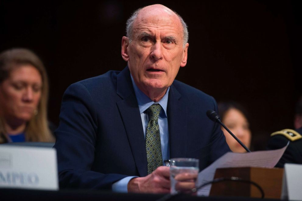 PHOTO: Director of National Intelligence Dan Coats testifies on worldwide threats during a Senate Intelligence Committee hearing on Capitol Hill in Washington, Feb. 13, 2018.