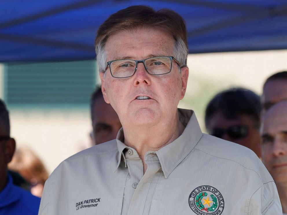 PHOTO: Texas Lt. Governor Dan Patrick speaks during a press conference about the shooting incident at Santa Fe High School, May 18, 2018 in Santa Fe, Texas.