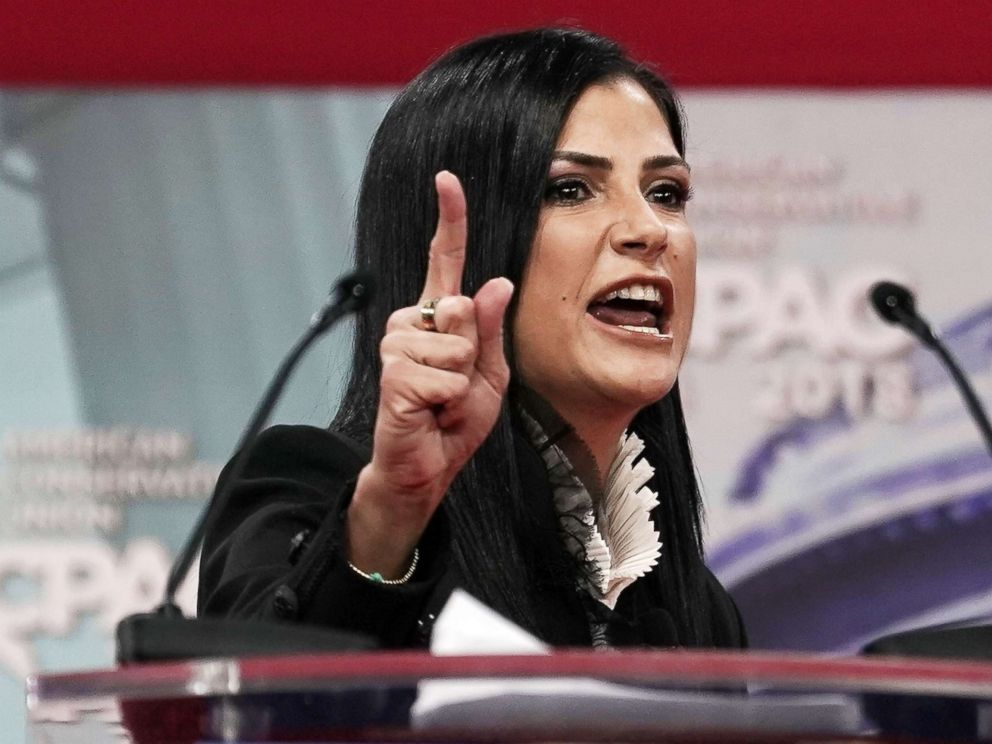 PHOTO: National Rifle Association spokeswoman Dana Loesch speaks during CPAC 2018 Feb. 22, 2018 in National Harbor, Md.