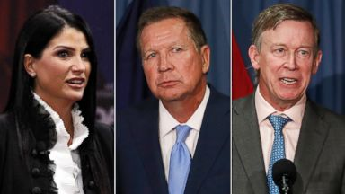 'PHOTO: Pictured (L-R) are Dana Loesch, spokesperson for the National Rifle Association, Ohio Gov. John Kasich and Colorado Gov. John Hickenlooper.' from the web at 'https://s.abcnews.com/images/Politics/dana-loesch-john-kasich-john-hickenlooper-2-ap-jt-180224_16x9t_384.jpg'