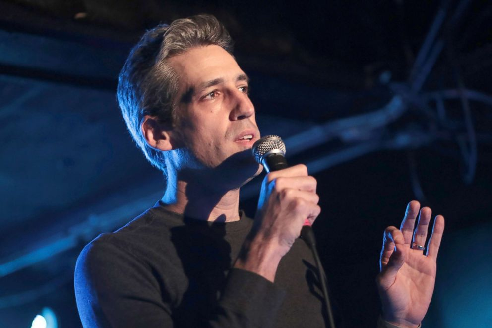PHOTO: Illinois Democratic gubernatorial candidate Daniel Biss speaks to fans gathered for a Pussy Riot show at Subterranean, March 6, 2018, in Chicago.