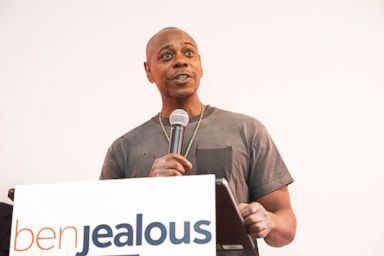 PHOTO: Dave Chappelle appears for Governor Candidate for Maryland Ben Jealous campaign event on June 8, 2018, in Largo, Md.