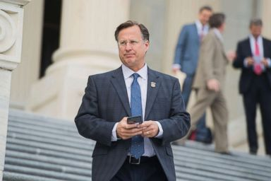 PHOTO: Rep. Dave Brat leaves the Capitol after the House passed a fiscal 2018 budget resolution, Oct. 26, 2017.