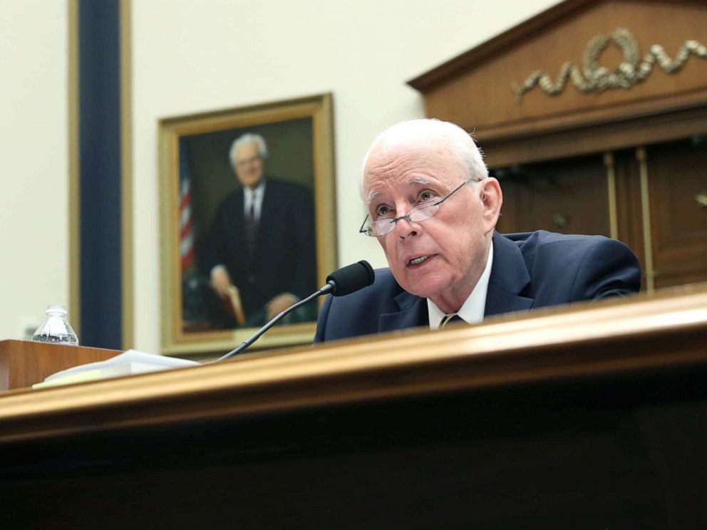 PHOTO: Former White House counsel John Dean testifies before a House Judiciary Committee hearing titled, Lessons from the Mueller Report on Capitol Hill, June 10, 2019.