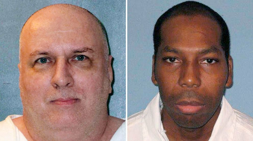 PHOTO: Death row inmates Patrick Murphy, left, and Dominique Ray are pictured in undated photos released by the Texas Department of Criminal Justice and the Alabama Department of Corrections.