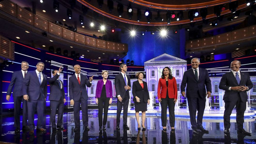 Democrats squabble on their left, but mostly play nice at first debate: ANALYSIS
