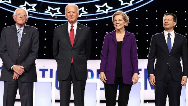The Note: Democrats joust with shadows at awkwardly timed debate