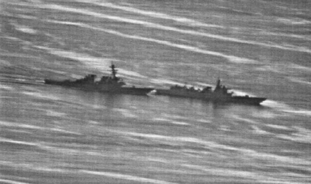 PHOTO: US Navy photo obtained by gcaptain.com of the USS Decaturs close encounter with a Chinese warship on September 30, 2018.