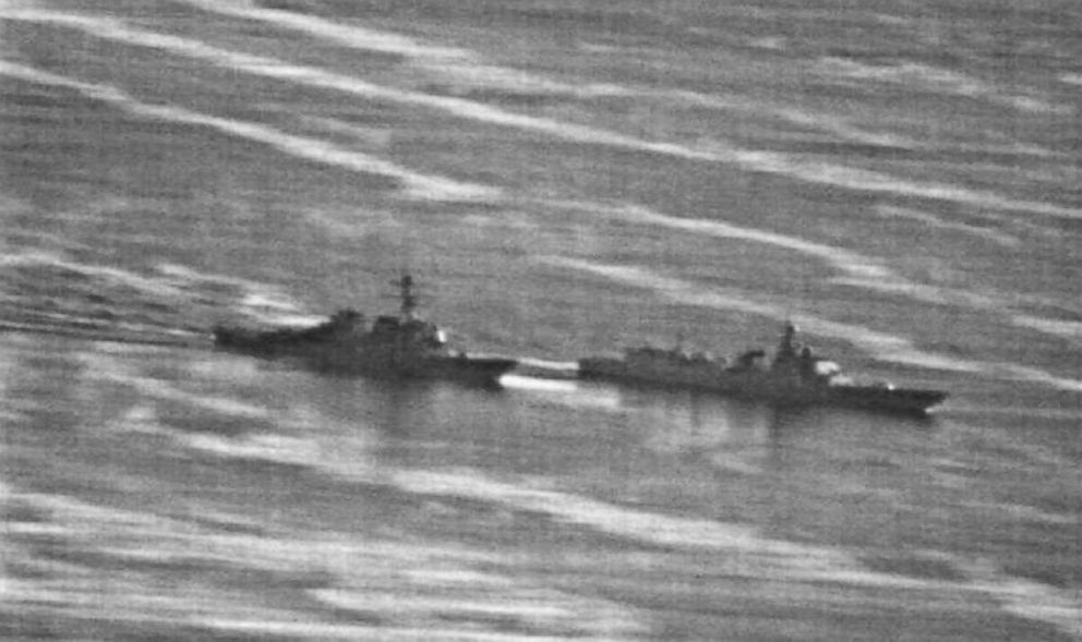 US Navy photo obtained by gcaptain.com of the USS Decatur's close encounter with a Chinese warship on September 30, 2018.