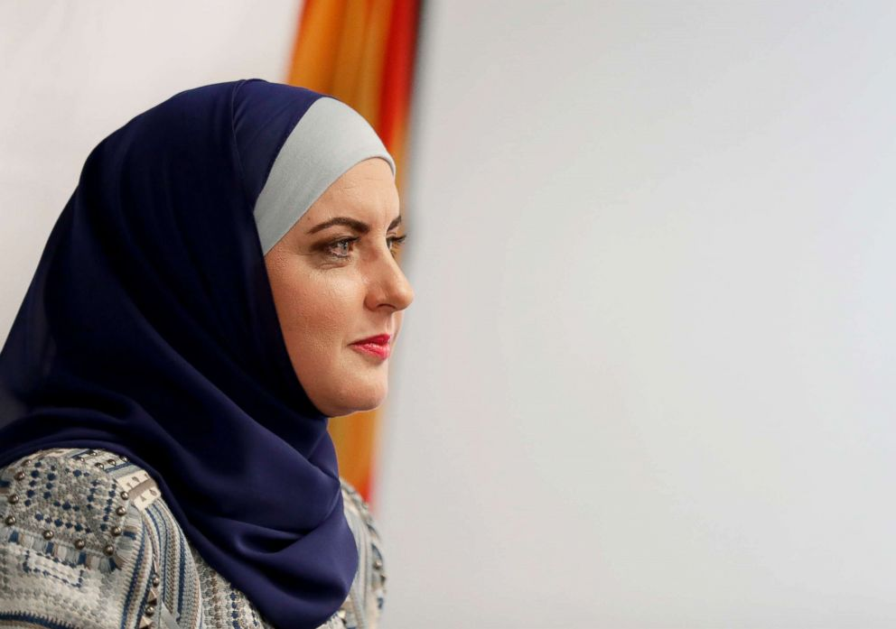 Deedra Abboud announces her candidacy for U.S. Senate, July 31, 2017, at the Democratic headquarters in Phoenix.