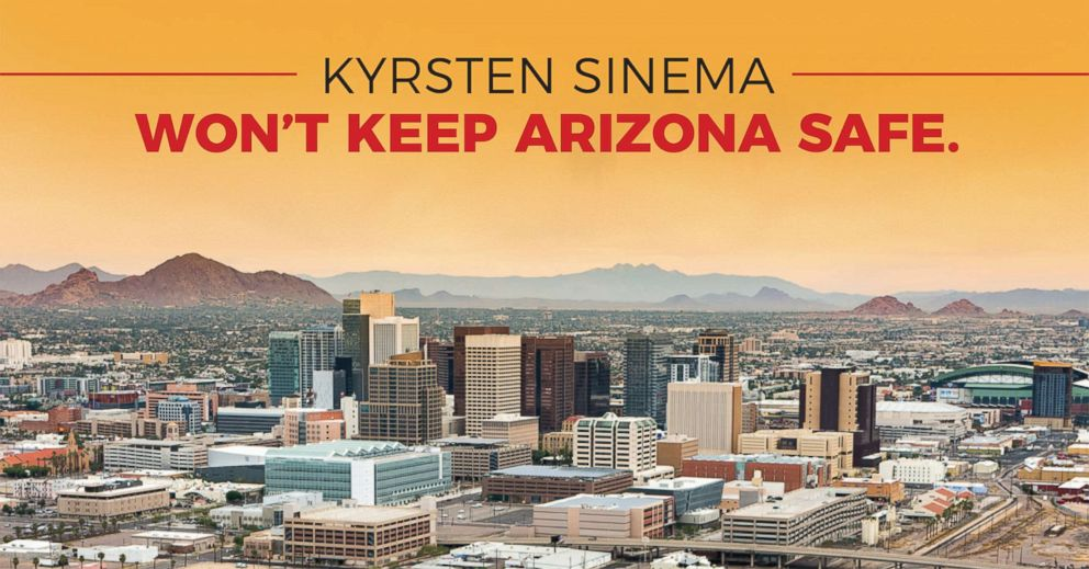 PHOTO: A conservative PAC called Defend Arizona sent this mailer out to some Arizona residents, which at first shows Phoenix and then, when tilted, shows a nuclear mushroom cloud in the citys place.