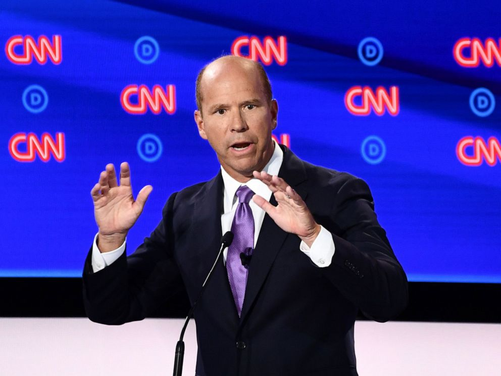 PHOTO: Democratic presidential hopeful former Rep. John Delaney participates in the first round of the second Democratic primary debate in Detroit, July 30, 2019.