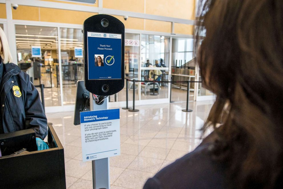PHOTO: Delta Air Lines reveals their new biometric scanning technology at Hartsfield-Jackson International Airport in Atlanta, Ga., Nov. 19, 2018.