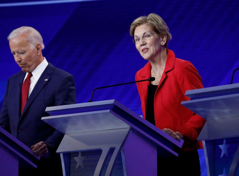 PHOTO: Democratic presidential hopeful Sen. Elizabeth Warren speaks during the third Democratic Primary Debate, in Houston, Sept. 12, 2019.