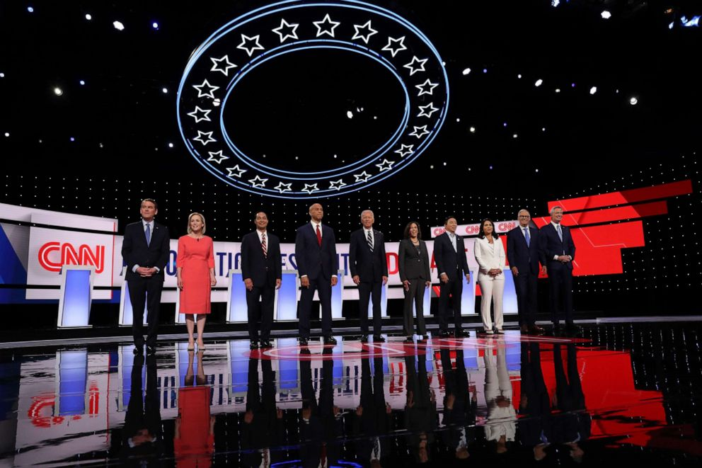 PHOTO: Democratic Presidential Debate at the Fox Theatre July 31, 2019, in Detroit.