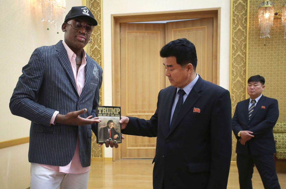 'Trust each other first': Dennis Rodman watches Trump-Kim summit from Singapore