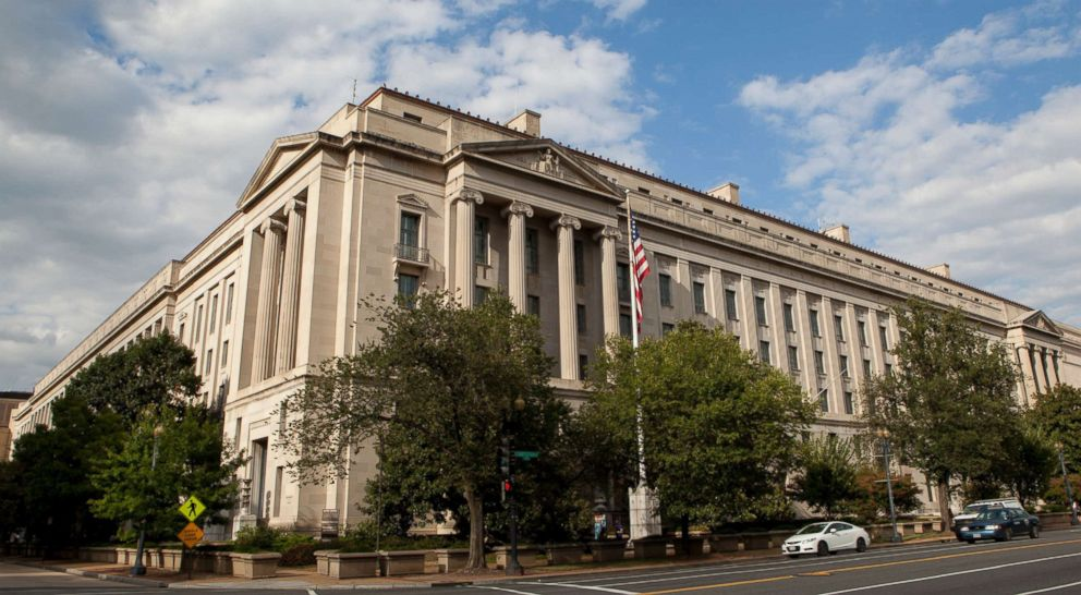 PHOTO: The Robert F. Kennedy Department of Justice Building is seen in Washington.