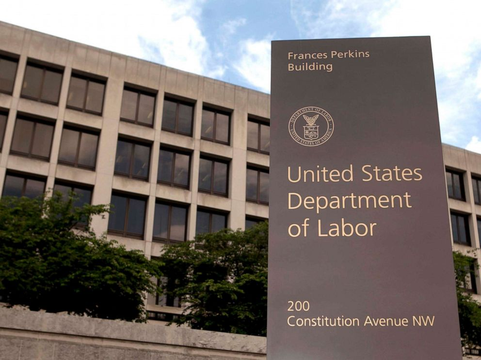 PHOTO: The Department of Labor headquarters stands in Washington, D.C., July 3, 2013.