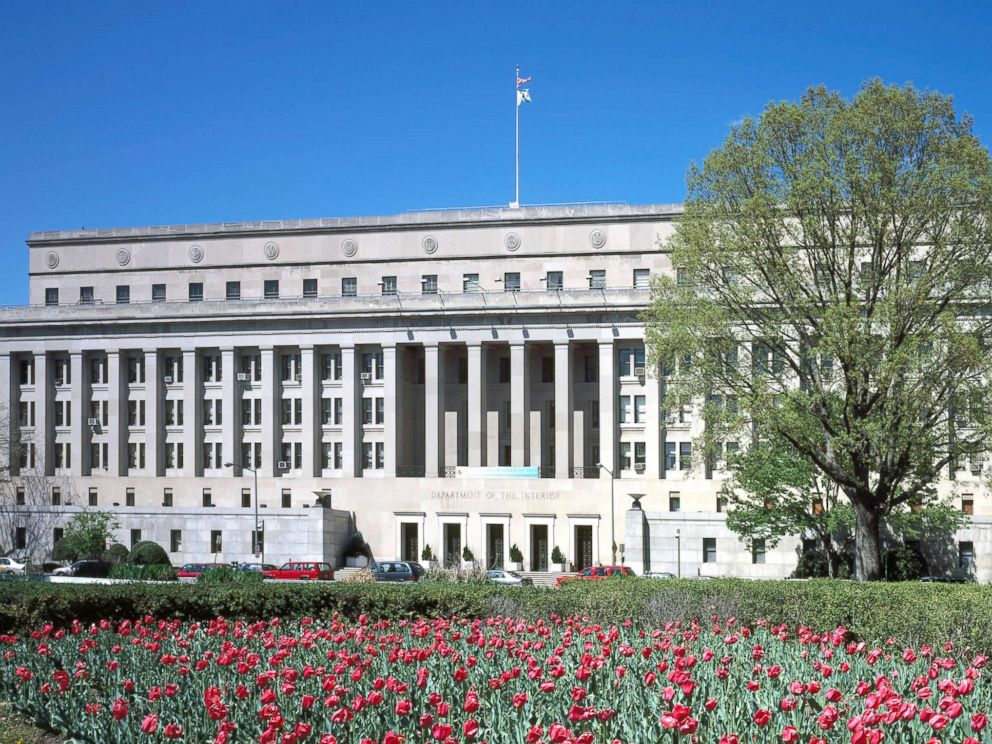 PHOTO: The Department of Interior headquarters building, Washington, D.C. is pictured in this undated image.