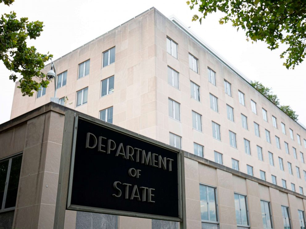 PHOTO: The US Department of State building is seen in Washington, DC, on July 22, 2019.