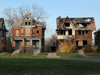 PHOTO: Abandoned buildings in Detroit, April 13, 2017.