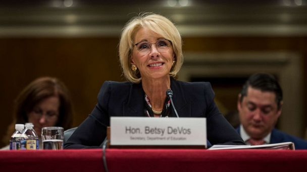 Education Secretary DeVos not sure if she'd want to serve another term after 2020