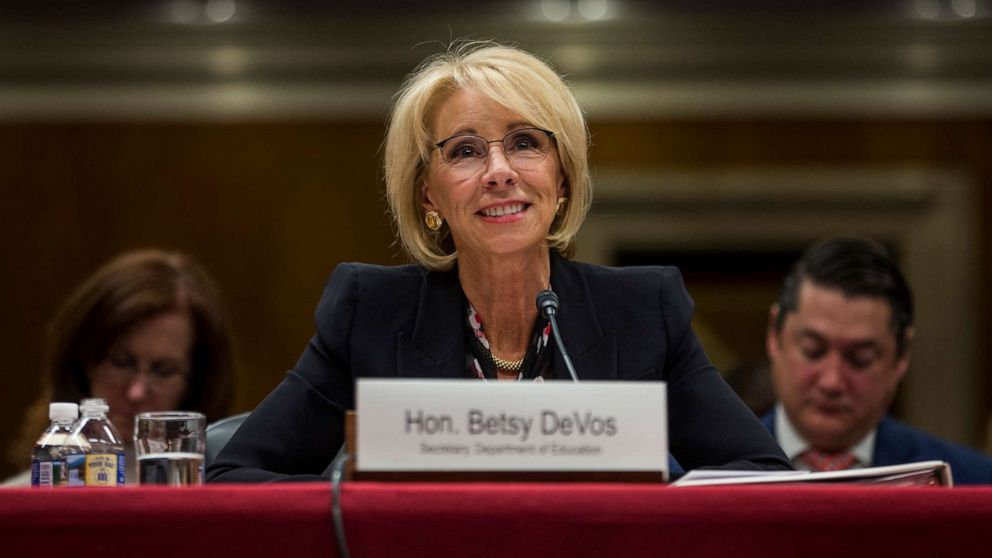 Groups want probe into DeVos stance on states using federal funds to arm teachers thumbnail