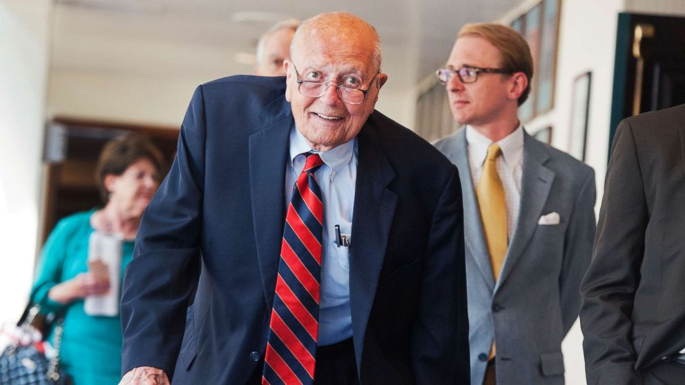 Rep. John Dingell, D-Mich., arrives at the National Press Club to speak at a luncheon, June 27, 2014.