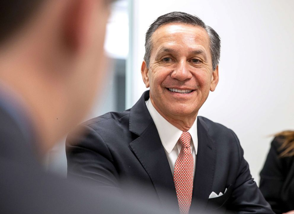 Dino Rossi, a Republican candidate for Washington's 8th congressional district, speaks with reporters and editors at Roll Call's Washington, D.C. offices, Jan. 29, 2018.