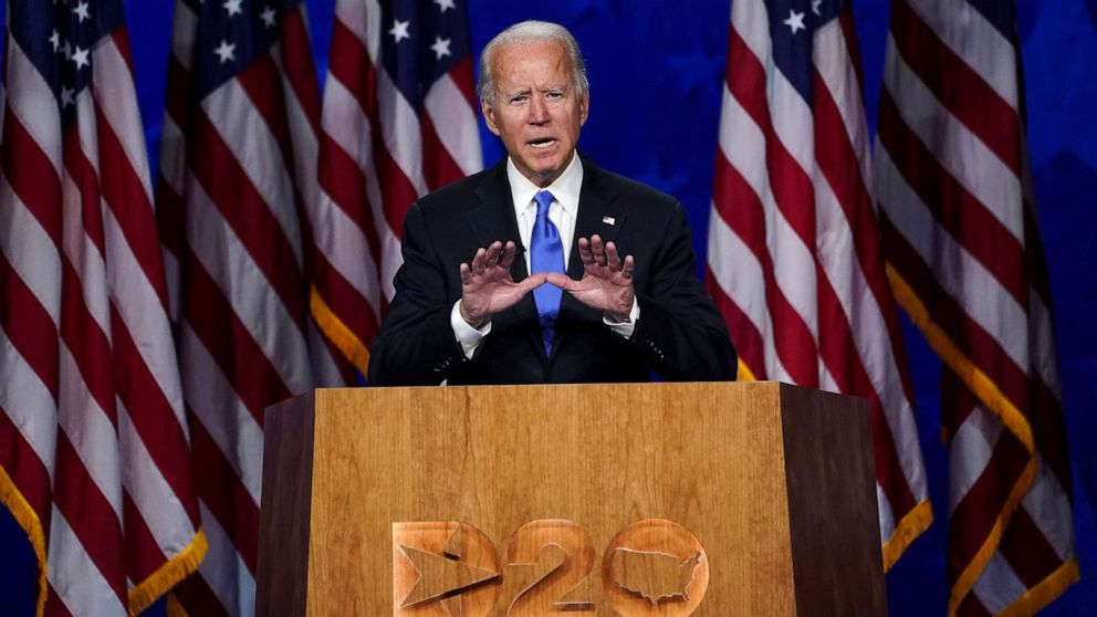 Dnc 2020 Day 4 Joe Biden Accepts Nomination Calls For Americans To Join Battle For The Soul Of The Nation Abc News