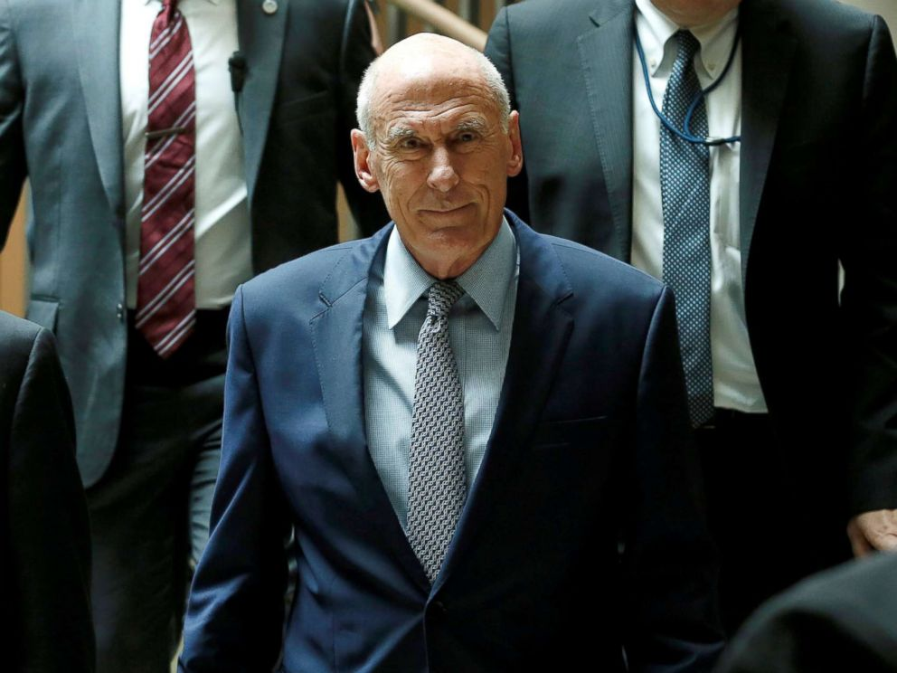 PHOTO: Director of National Intelligence Dan Coats arrives for a closed senators-only Capitol Hill briefing on election security at the U.S. Capitol in Washington, Aug. 22, 2018.