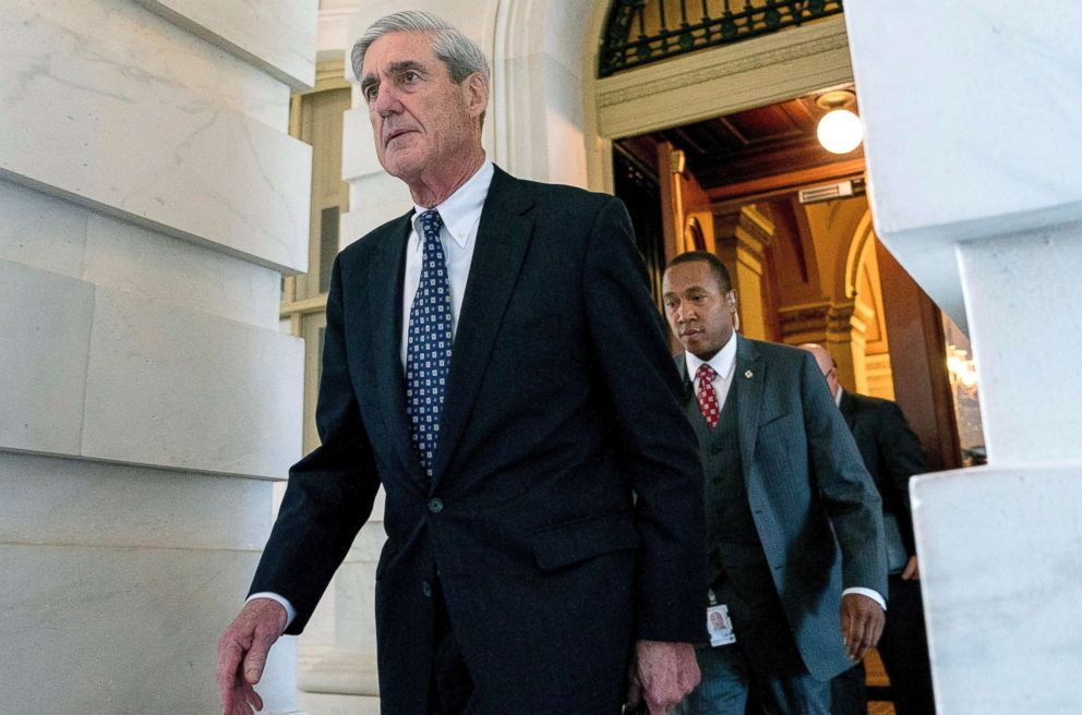 PHOTO: Robert Mueller, the special counsel probing Russian interference in the 2016 election, departs Capitol Hill, June 21, 2017.
