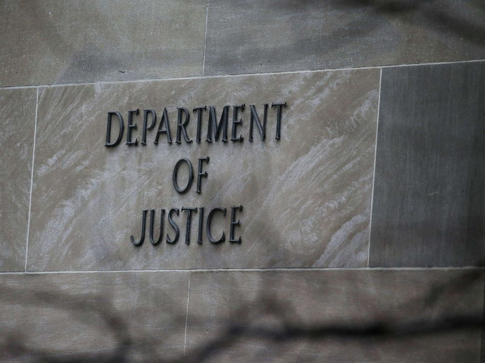 PHOTO: The Department of Justice building is pictured in Washington D.C., March 21, 2019.