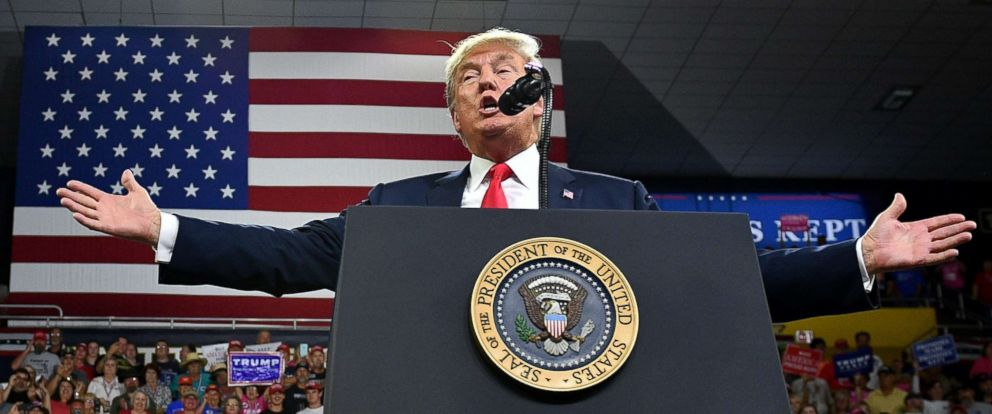645d56320e3 PHOTO  President Donald Trump speaks during a rally at Freedom Hall Civic  Center in Johnson