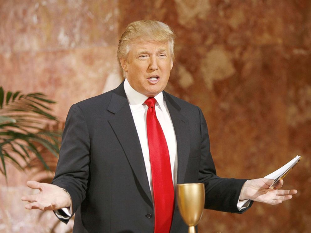 PHOTO: Donald Trump during Donald Trump Hosts AOL & Mark Burnetts Interactive Game Gold Rush at Trump Tower in New York City, Oct. 27, 2006.
