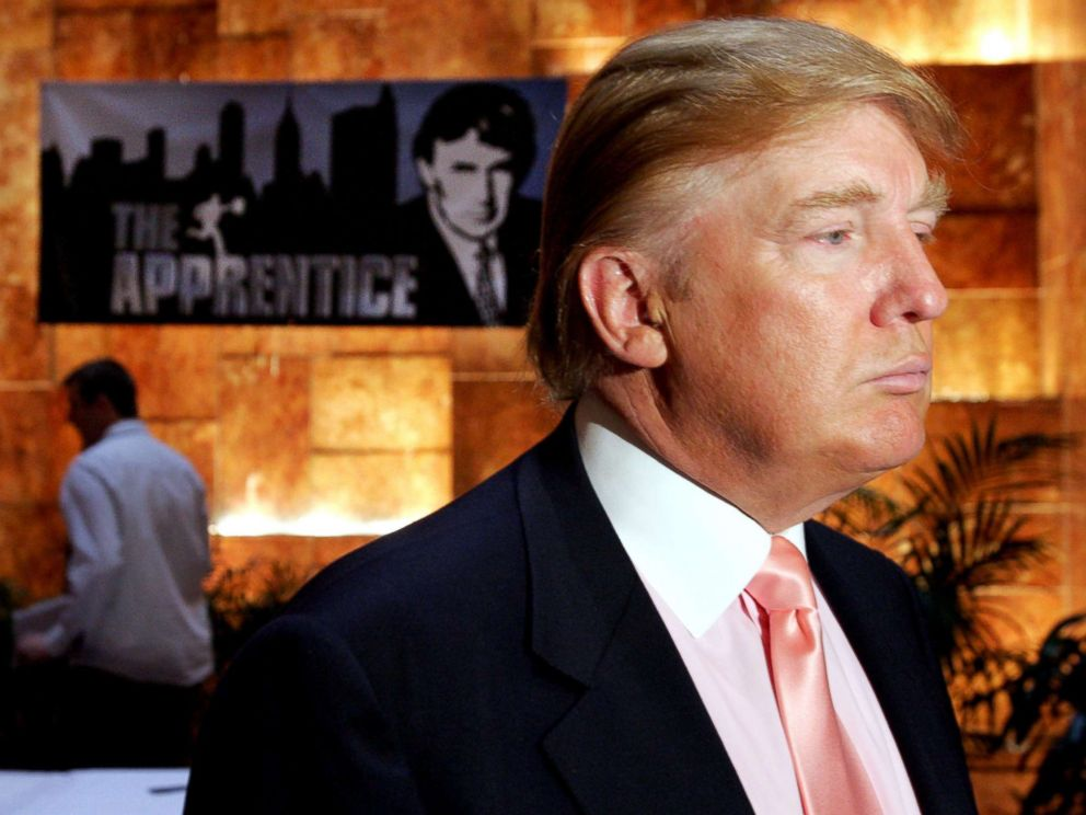 PHOTO: Donald Trump is pictured at a publicity event where he interviewed candidates for season five of NBCs The Apprentice, July 8, 2005.