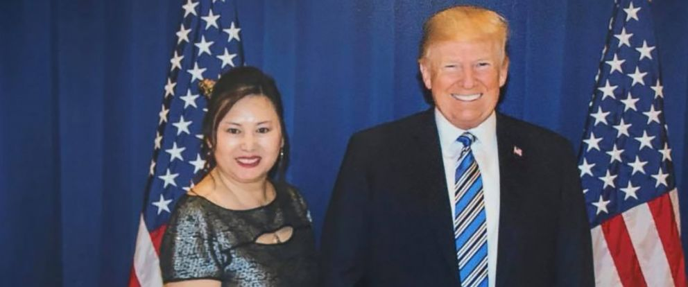 PHOTO: A photo posted on Facebook shows Cindy Yang with President Donald Trump.