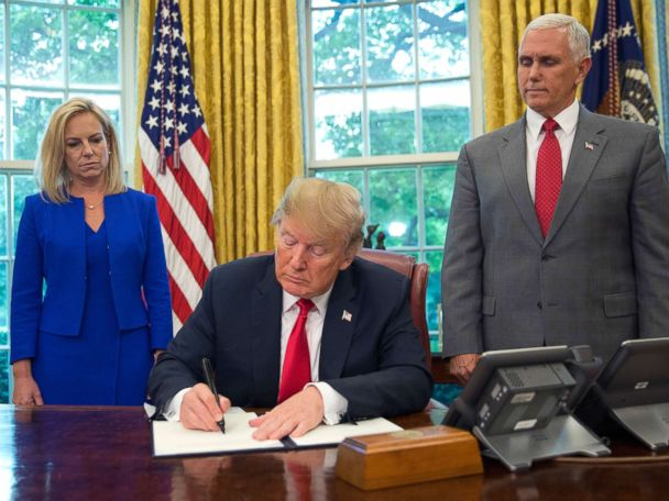 Trump signs executive order he says will keep immigrant families together